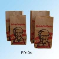 China Kraft Fast Food Paper Bags / Take Away Paper Bags For McDonald'S KFC on sale