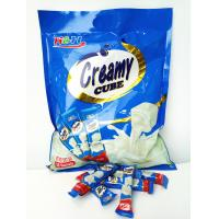 Quality Eco-Friendly 5 In 1 Cube Shaped Tablet Candy Deep In Milk Flavor wholesale