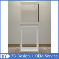 Quality Wholesale good quality wooden square matte white perspex display stands with fully locks lights wholesale