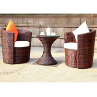China Plastic Rattan Table And Chairs Set With Funnel Table Design For Beauty Salons on sale