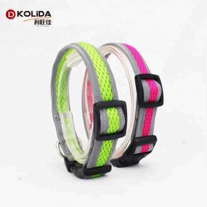 China Multi Size 3M Reflective Tape Dog Collar , Night Reflective Dog Collar For Pet on sale