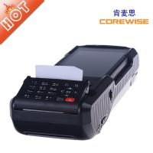 China handheld wireless POS terminal with fingerprintscanner,rfid reader,printer,etc. on sale