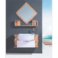 Quality Round Type Natural wood Bathroom Cabinet with mirror various size 80 * 80 * 16cm mirror wholesale