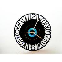 Quality Creative Fashion DIY Decorative Carved Wall Clock 30 x 30cm In Living Room wholesale