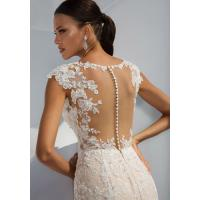 Cheap Sleeve Less Sexy Backless Fit And Flare Wedding Dress , Bridal Wedding Gowns for sale