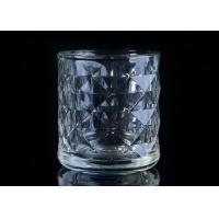 Cheap Embossed Glass Candle Holder tea light candle holders For Home Decoration for sale
