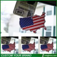 Quality Black ice 7*9cm USA flag nice cotton car paper air freshener wholesale