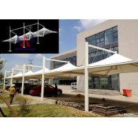 Buy cheap White Membrane Surfaced Car Parking Tensile Structure Steel Cable Tightened product