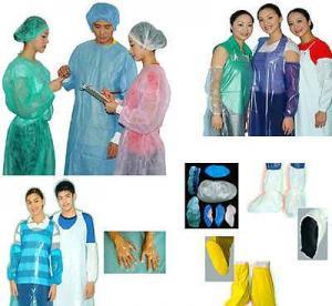 Quality PE/CPE and PVC Surgery Garment/Nurse Cap/Doctor Cap/Sleeve Cover/Shoe Cover/Glove wholesale