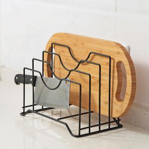 China Wire Chopping Board Holder Cutting Board Rack Kitchen Organizer on sale