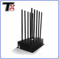 Quality 24 Hours 100W High Power Mobile Phone Jammer 10 Antenna Adjustable With AC Adapter wholesale