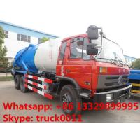 Quality Dongfeng 6*4 LHD/RHD Cummins 210hp diesel 16m3 vacuum sewage suction truck for sale, dongfeng brand sludge tank truck wholesale