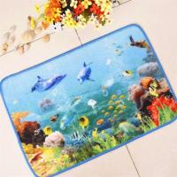 Quality Front Door Entrance Mats Nylon Material Colorful Fish Printed Pattern wholesale