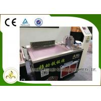 Quality Fume Down Exhaust Mobile Teppanyaki Grill Table Electric Tube Mobile Stainless Steel wholesale