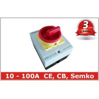 Quality Surface Mounted 32A Rotary Isolator Switch 4 Pole / Electrical Isolation Switch wholesale