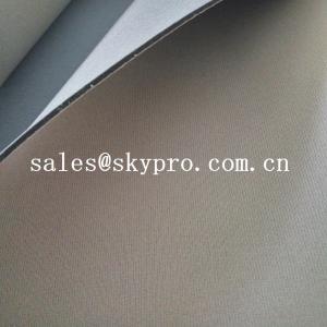 China Customized anti-shock neoprene foam sheet two sided coated polyester jersey nylon fabric on sale