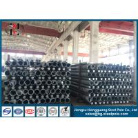 China Custom Hot Dip Galvanised Steel Tubular Pole , Metal Electric Power Pole on sale