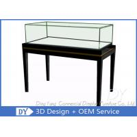 Quality OEM Simple Modern Wood Black Exhibition Plinths With Lights Fully Assembly wholesale