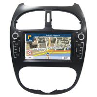 Quality Peugeot 206 GPS Navigation Car Multimedia DVD Player With Android / Windows System wholesale