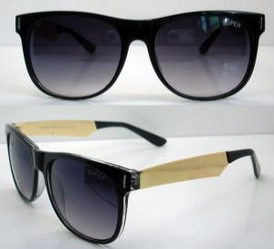 Cheap 400UV Big Lens Classical Plastic Frame Sunglasses For Men for sale