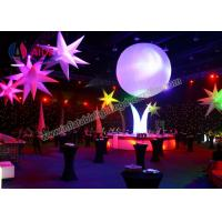 Quality Vertical Blow Up Five Stars Inflatable Lighting Balloon Prism Inflatable Lighting System wholesale