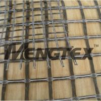 China Basalt Reinforcing Mesh Geogrid Asphalt Coated on sale