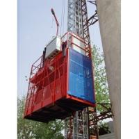 Quality Rack and Pinion 2t Construction Hoists / Building Elevator lifts Painted or Galvanized wholesale