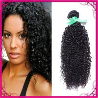 Quality Kinky Curl Indian Human Hair Extensions Natural Black Without Chemical wholesale
