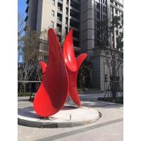 Quality ODM Decorative Stainless Steel Abstract Sculpture Painted Metal Sculpture wholesale