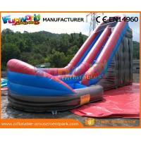 China CE Inflatable Wet Slide Grey 0.55MM PVC Tarpaulin Inflatable Slide With Pool on sale