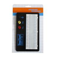 Quality Black Aluminum Backing Plate Solderless Breadboard Kit 830 Tie Points wholesale