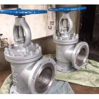Quality CL150 RF CS/SS A216 WCB A351 CF8M/SS316 Flanged Angle Type Globe Valve / Throttling Valve wholesale