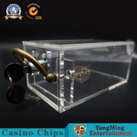 China 6 Deck Baccarat Poker Table High Transparent Acrylic 171*100*80mm on sale