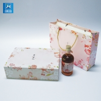China Foil Stamping 157g Art Paper Wine Cocktail Lid And Base Boxes on sale