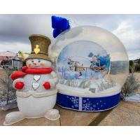 Quality Party Events Inflatable Christmas Decorations Air Snow Globe For Advertising wholesale