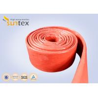 China 550C Heat Resistant Silicone Fiberglass Sleeve Insulation Cable Pipe Protection on sale