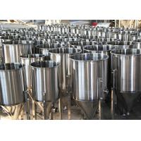 Quality 100L Custom Beer Conical Fermenter , Stainless Steel Fermentation Tanks wholesale