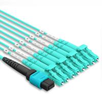 Quality MPO To LC OM4 40G Multi Mode Patch Cord 3 Meter 12 Core High Density PVC/LSZH Jacket wholesale