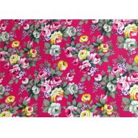 Floral Patterned Canvas Fabric Polyester / Floral Print Fabrics