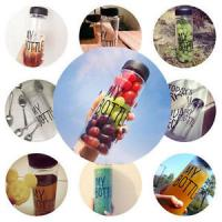 Quality Clear Health Travel My Bottle Sport Plastic Fruit Juice Water Cup 500ML wholesale