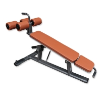 Quality Gray Frame Abdominal Bench Machine With Roller Wheel wholesale