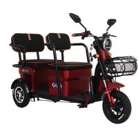 China 800W/1000W/1200W electric motor red color 3 wheel electric scooter for adults on sale