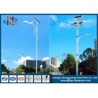 China Conical , Round Outdoor Solar Powered Light Post Outdoor Lamp Pole With Solar Panel on sale