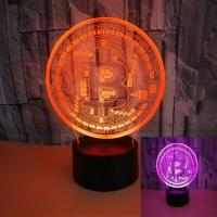 China wholesale BTB 3D shape visual stereo lighting Colorful touch 3D night light manufacturers on sale