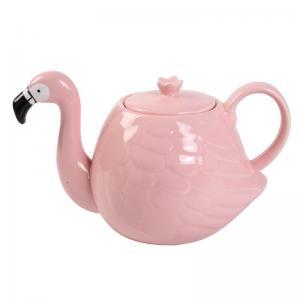 Quality White Wedding 780ml Pot Flamingo Tea Set wholesale