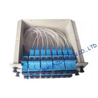Quality SC / UPC fiber optic splitter telecom Cassette Box Type / Rack Mount optical splitter wholesale