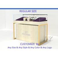 Cheap Quarter Vision Jewellery Shop Display Counter With LED Pole lights for sale
