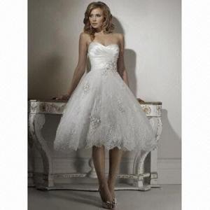 Cheap Famous Organza A-line New Design Bridal Dress for sale