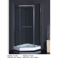 Quality ABS Handle curved  Corner Shower Enclosures Square Type OEM Available wholesale