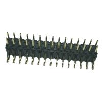 Quality Right  Angle 	Pin Header  2mm Pitch Connector , PA9T Black Double Row Header Connector wholesale
